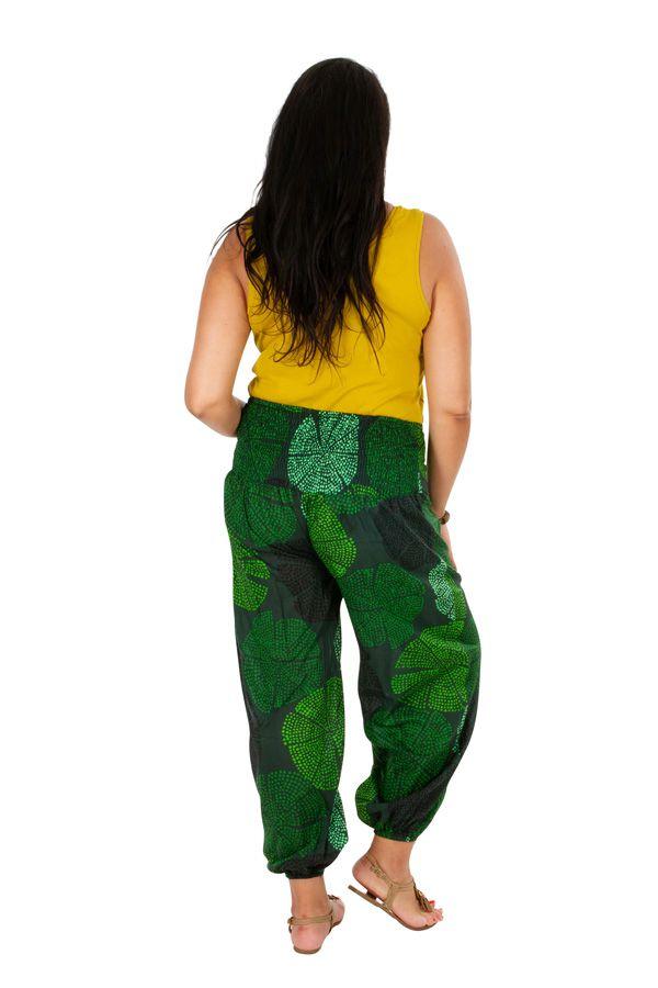 Pantalon grande taille ample et agréable vert Samba 309740