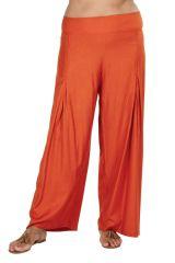 Pantalon Grande taille Ample et Fluide Mina Rouille 317381