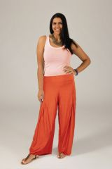 Pantalon Grande taille Ample et Fluide Mina Rouille 317382