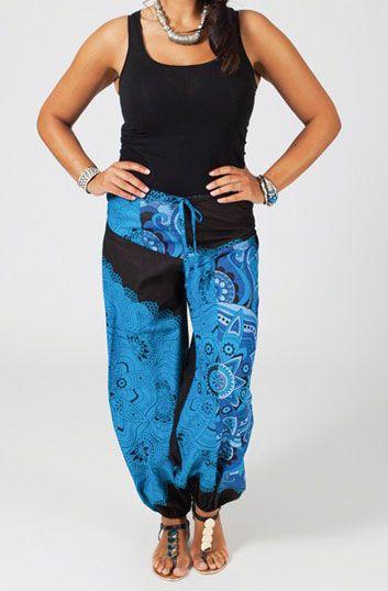 pantalon femme grande taille ethnique et chic angun. Black Bedroom Furniture Sets. Home Design Ideas