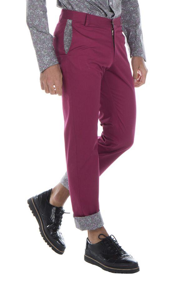 Pantalon homme chino ajusté chic couleur pas cher Brice 314338