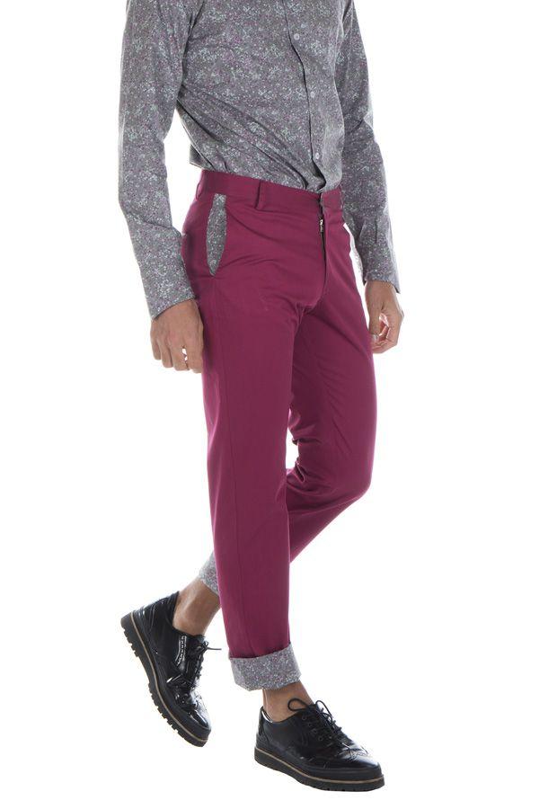 Pantalon homme chino ajusté chic couleur pas cher Brice 314339