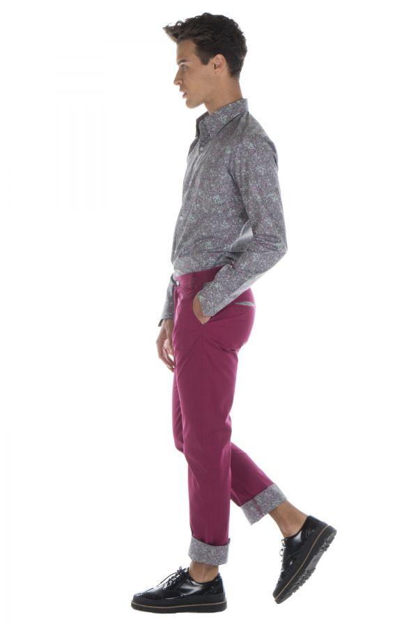 Pantalon homme chino ajusté chic couleur pas cher Brice 314340