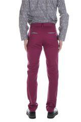 Pantalon homme chino ajusté chic couleur pas cher Brice 314343