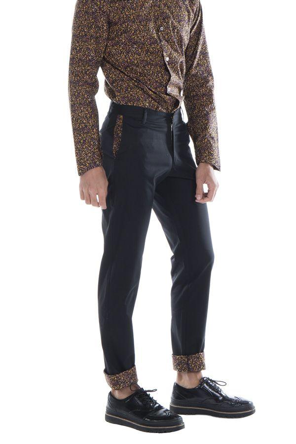Pantalon homme chino noir mariage soirée pas cher Arman 314321