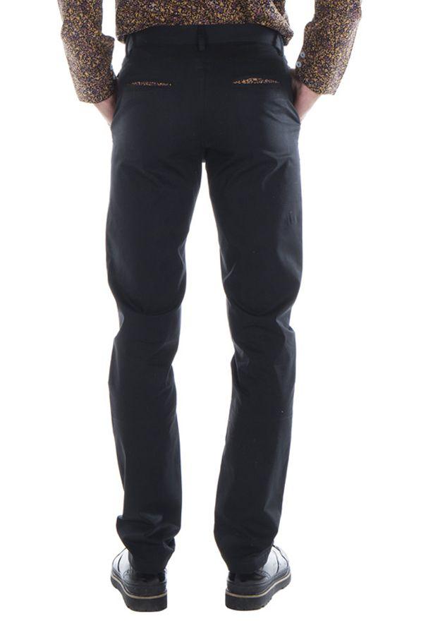 Pantalon homme chino noir mariage soirée pas cher Arman 314323