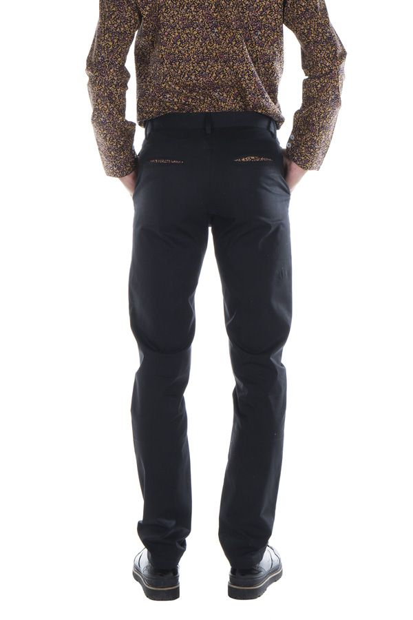 Pantalon homme chino noir mariage soirée pas cher Arman 314324