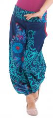 Pantalon Indigo et Turquoise pour Fille Ethnique et Coloré Chaca 280100
