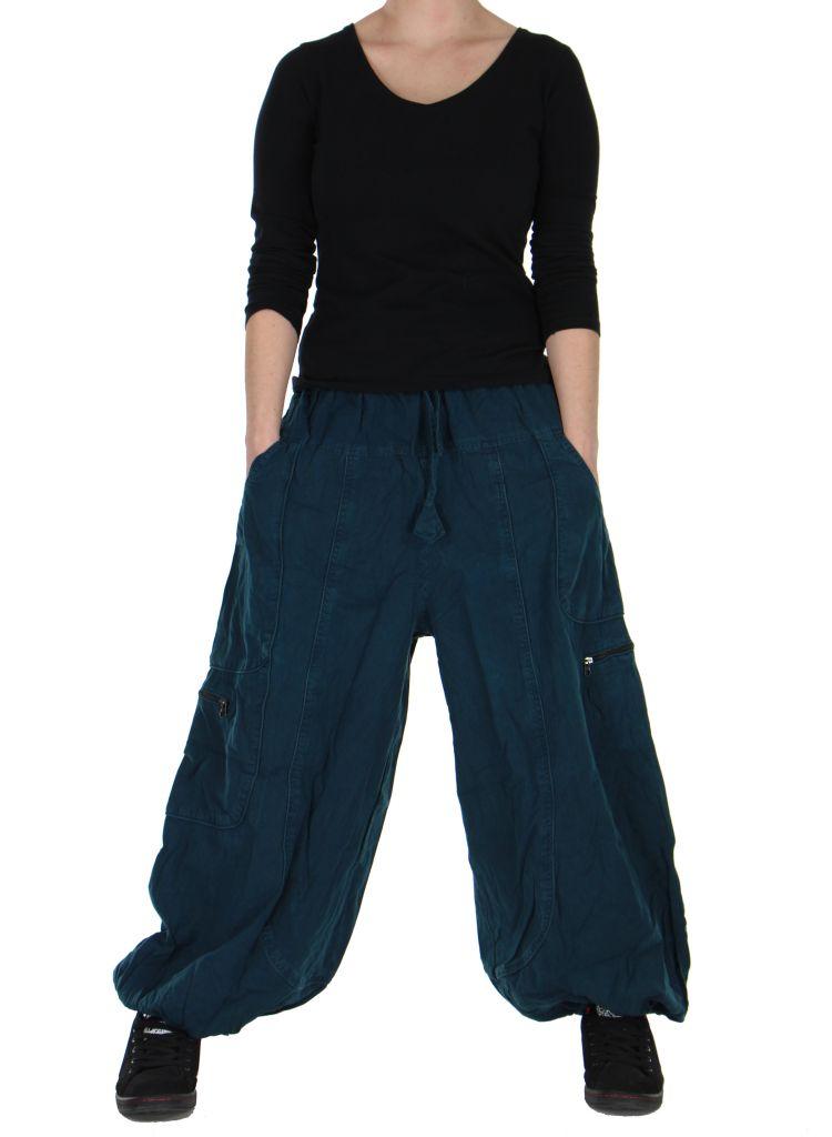 Pantalon large bleu adrah 266072