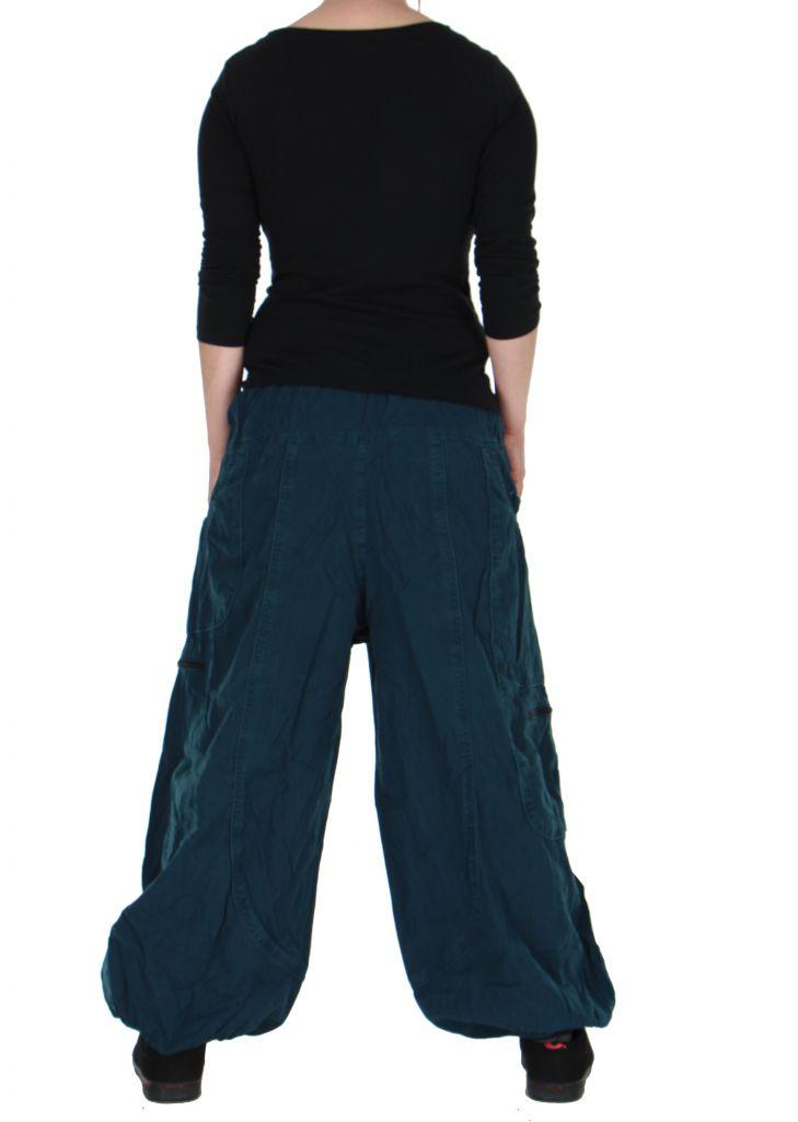 Pantalon large bleu adrah 266073