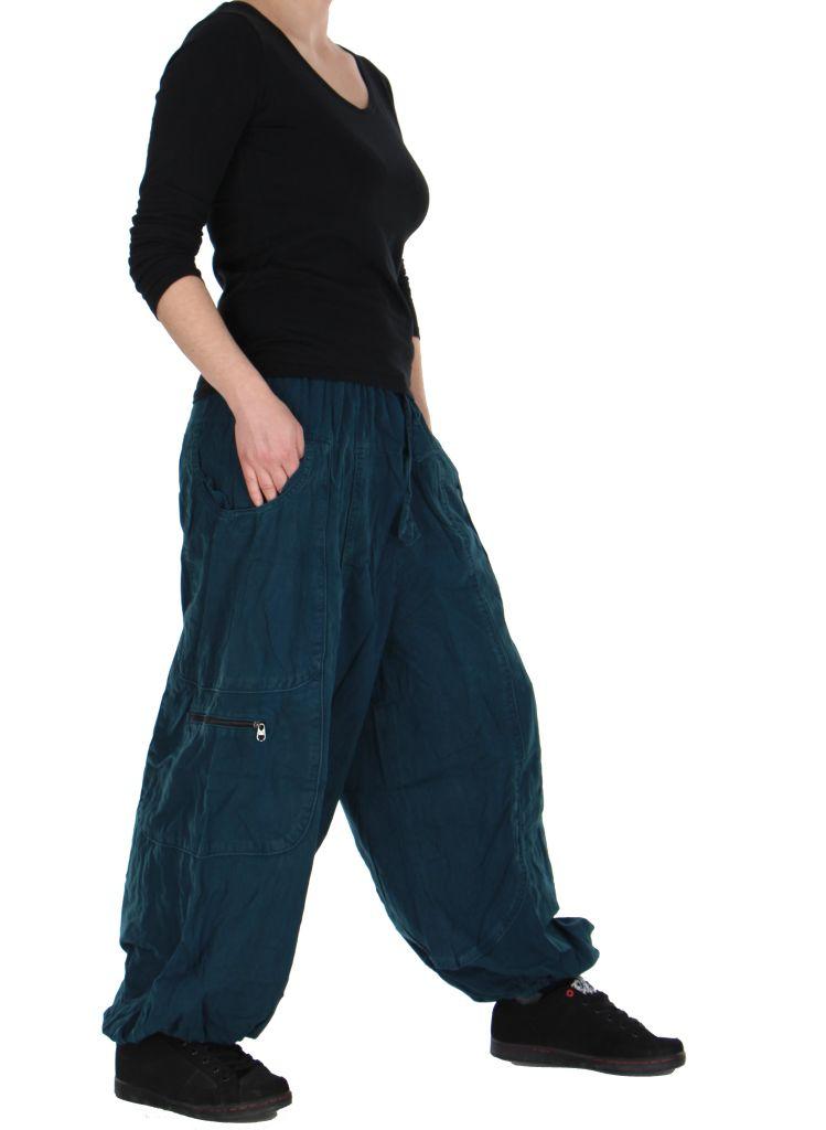 Pantalon large bleu adrah 266074