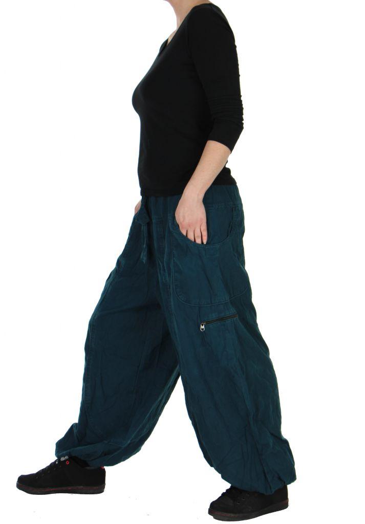 Pantalon large bleu adrah 266075