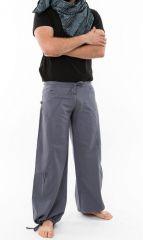 Pantalon large ethnique gris du Népal pour homme Duna 305553