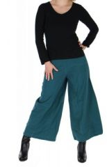 Pantalon large ethnique norane bleu 264502