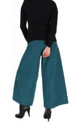Pantalon large ethnique norane bleu 264503