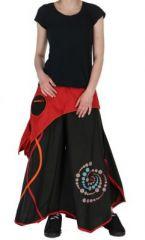 Pantalon large n�palais solan noir et rouge 261535