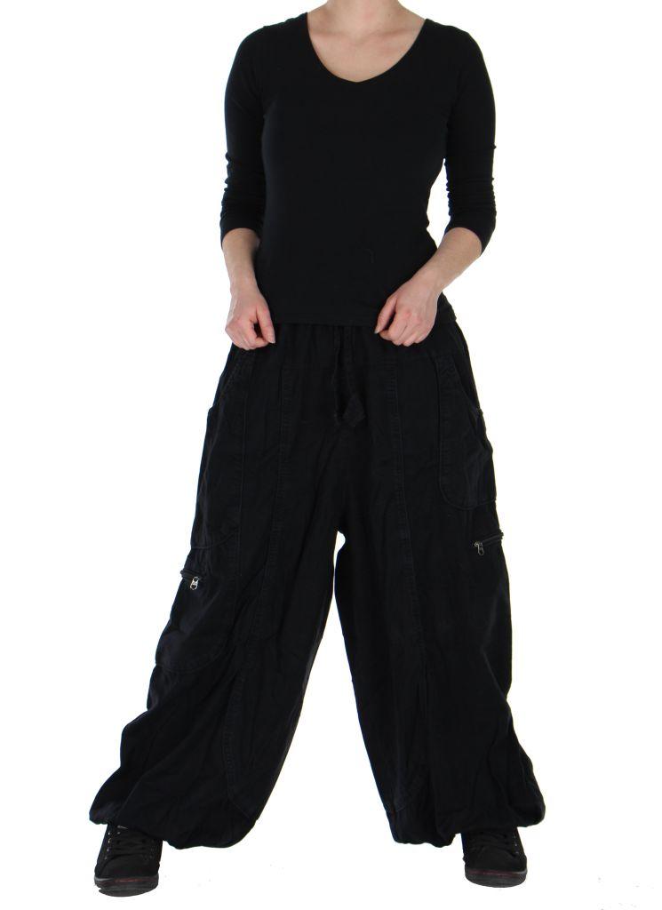 Pantalon large noir adrah 266068