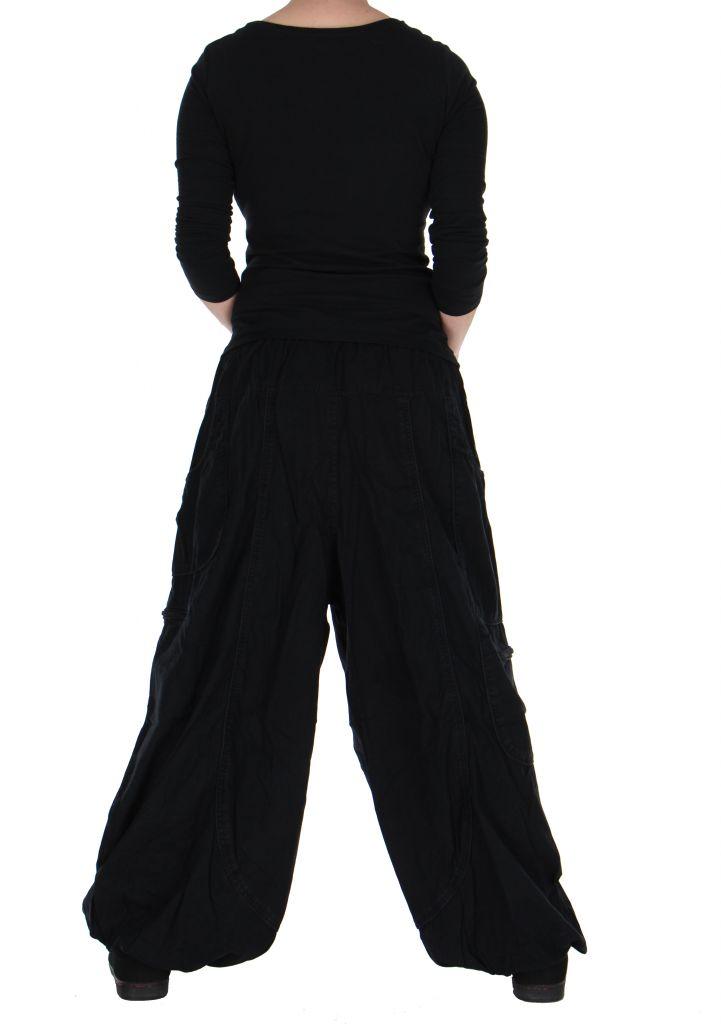 Pantalon large noir adrah 266069