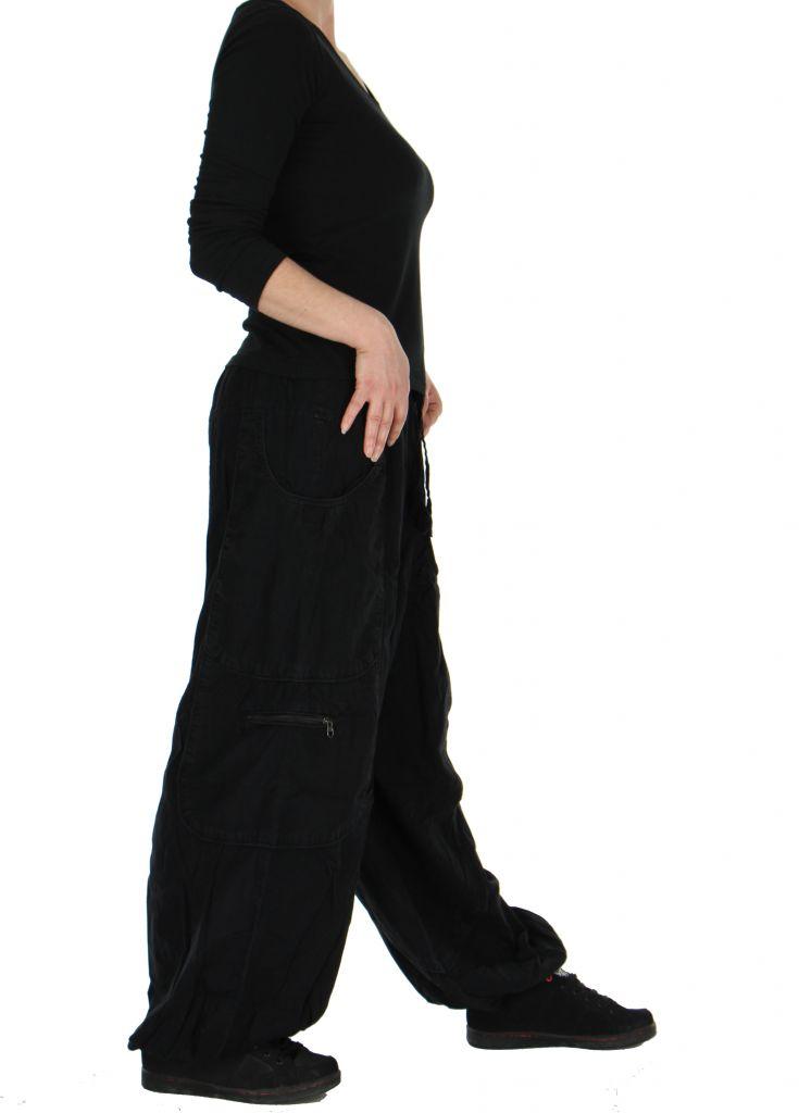 Pantalon large noir adrah 266071