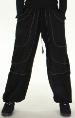 Pantalon large Noir Mixte Ethnique et Original Guilherme 278715