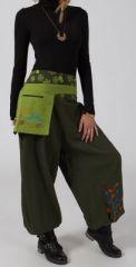 Pantalon large pour femme kaki Niagara