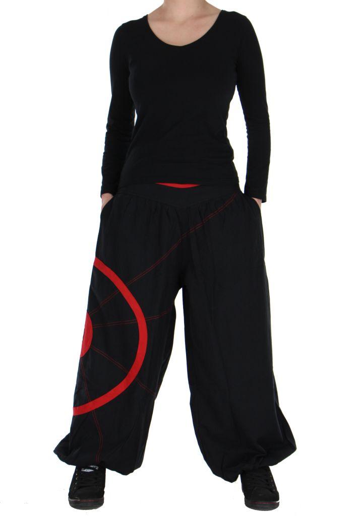 Pantalon noir et rouge aladin original Ciblix 266666