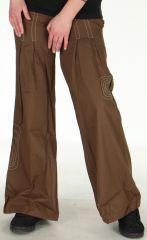 Pantalon pour Femme Ample ou Bouffant Original Tayao Choco 278515