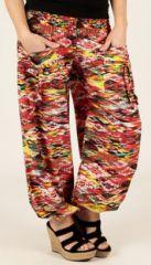 Pantalon pour femme d'�t� Agr�able et Ample Florazi Rouge 277751
