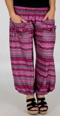 Pantalon pour Femme d'été Confortable et Large Balzac Fushia 277742