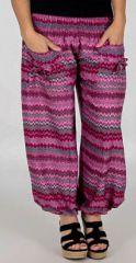 Pantalon pour Femme d'�t� Confortable et Large Balzac Fushia 277742