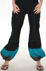 Pantalon pour Femme d'été Ethnique et Bouffant Babila Noir 278077