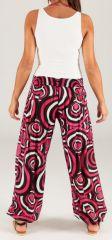Pantalon pour Femme d'été Ethnique et Original Milan Rose 280308