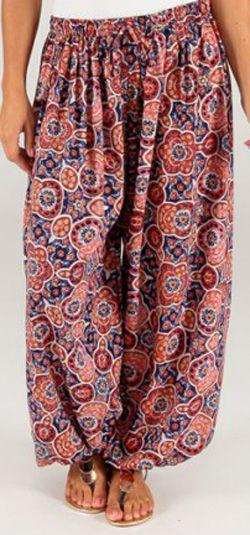 Pantalon pour Femme d'été Ethnique et Original Romain 276772