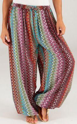 Pantalon pour Femme d'été Ethnique et Original Séraphin 276775