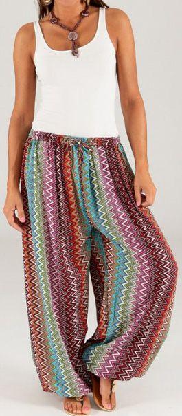 Pantalon pour Femme d'été Ethnique et Original Séraphin 276776