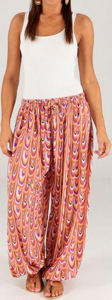 Pantalon pour Femme d'été Ethnique et Original Toussaint 276779