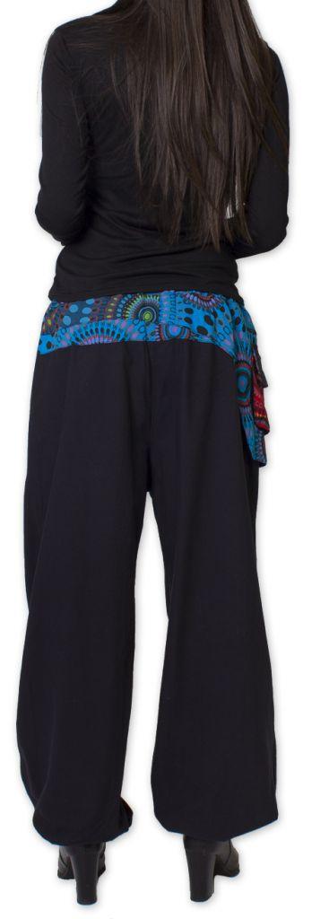 Pantalon pour Femme Ethnique et Coloré Rimack Noir 276024
