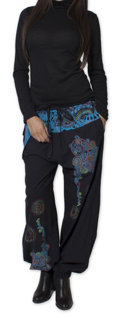 Pantalon pour Femme Ethnique et Coloré Rimack Noir 276025