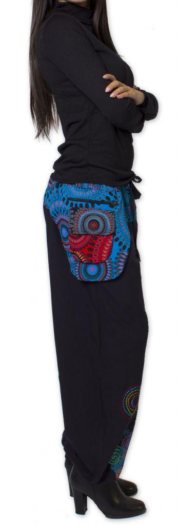 Pantalon pour Femme Ethnique et Coloré Rimack Noir 276026