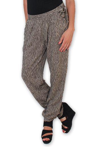 Pantalon pour Femme Ethnique et Original Hally Marron 276492