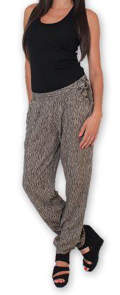 Pantalon pour Femme Ethnique et Original Hally Marron 276493