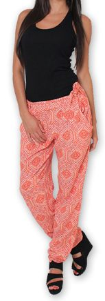 Pantalon pour Femme Ethnique et Original Hally Orange 276505