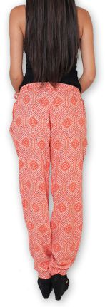Pantalon pour Femme Ethnique et Original Hally Orange 276507