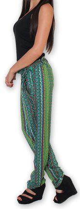 Pantalon pour Femme Ethnique et Original Hally Vert 276510