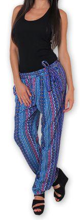 Pantalon pour Femme Ethnique et Original Hally Violet 276513