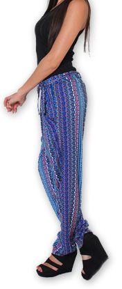 Pantalon pour Femme Ethnique et Original Hally Violet 276514