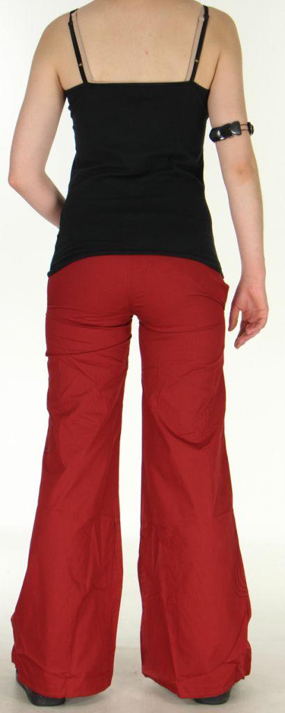 pantalon pour femme original ample ou bouffant tayao rouge. Black Bedroom Furniture Sets. Home Design Ideas