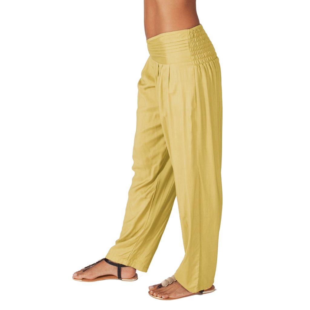 Pantalon pour femme taille basse Ethnique et Original  Giulio Crème 314297