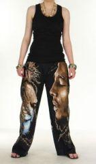 Pantalon rasta bob marley lion noir pour femme 271022