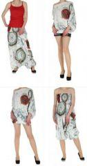 Pantalon sarouel transformable en tunique nat�o blanc 261128